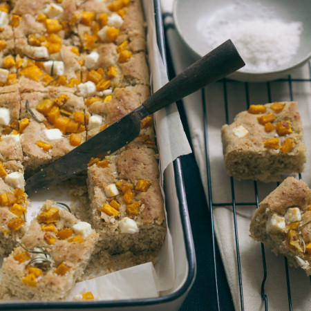 Rosemary + Roasted Pump kin Focaccia Bread (gluten-free and vegan) | Baked - The Blog