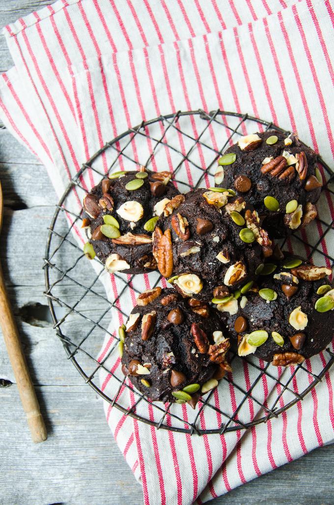 Whole Wheat Chocolate Beet Muffins