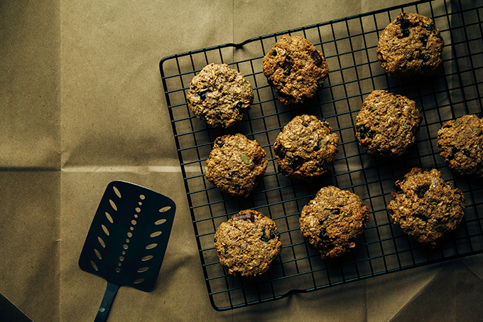 Ultimate Breakfast Cookies (vegan, gluten-free + sugar-free!)