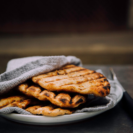 easy grilled spelt flatbread recipe via BAKED-theblog.