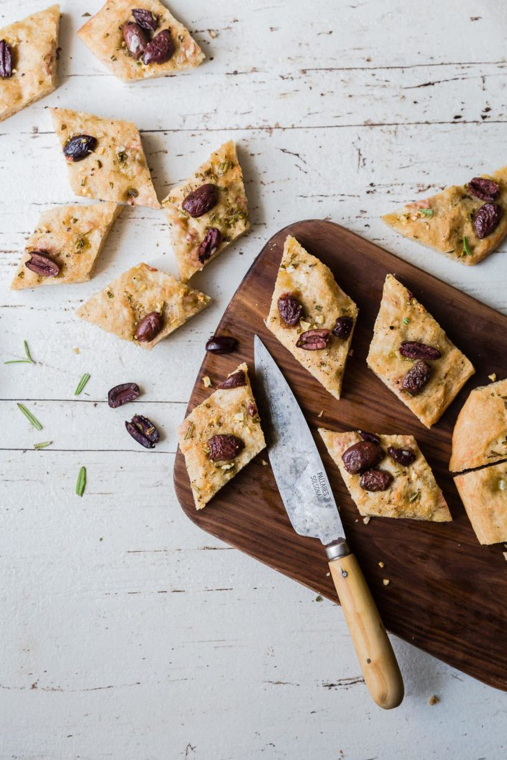 Spelt Foccacia with Olives & Rosemary