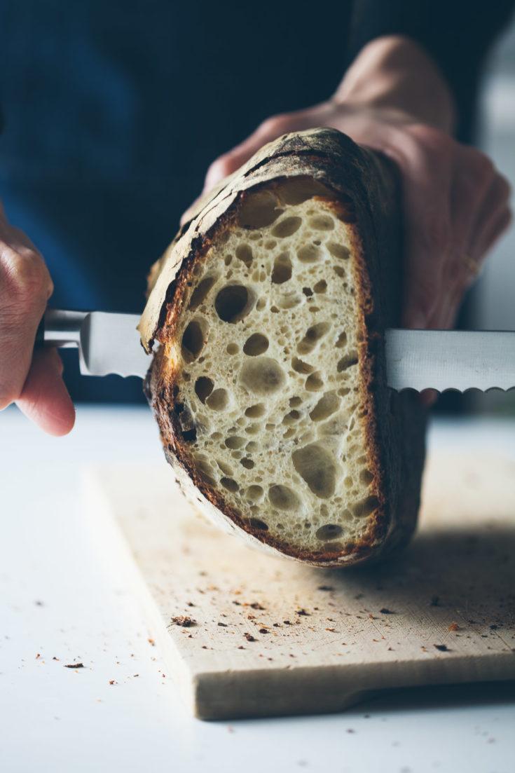 No-Knead Everyday Sourdough Bread