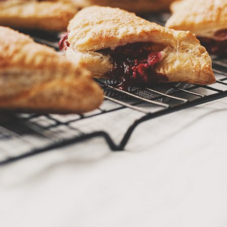 Raspberry Rose & Labneh Turnovers