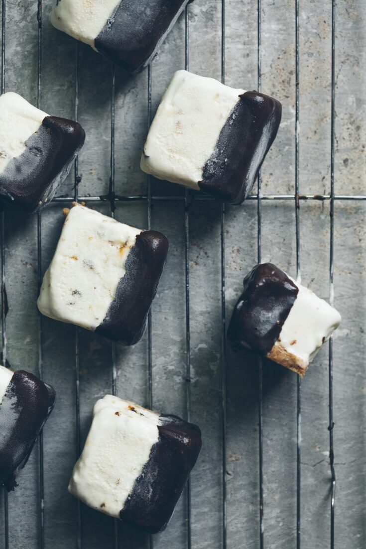 Overhead shot of several S'Mores Ice Cream Bars