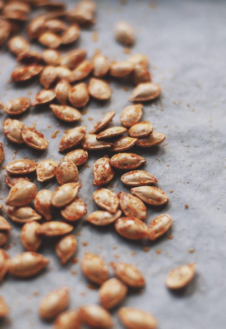 Sweet and Smoky Roasted Pumpkin Seeds