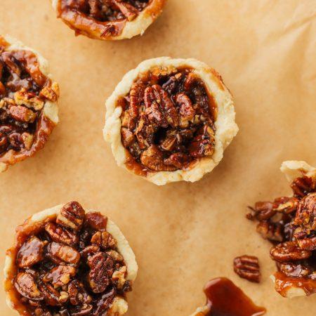Pecan Tassies from Mississippi Vegan (like vegan butter tarts)