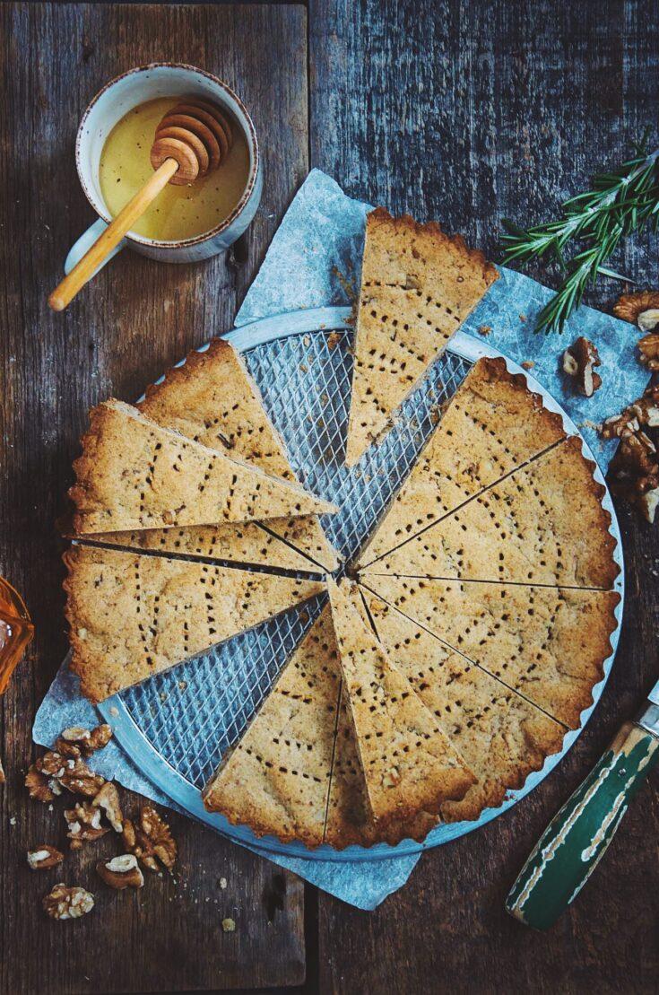 Honey Walnut & Rosemary Shortbread
