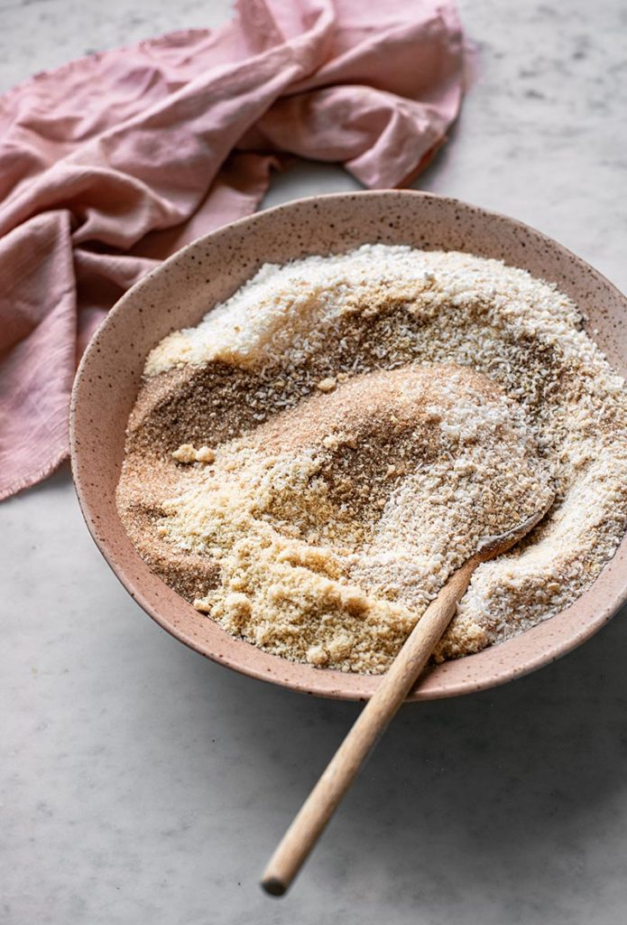 Dry ingredients for muffin batter.