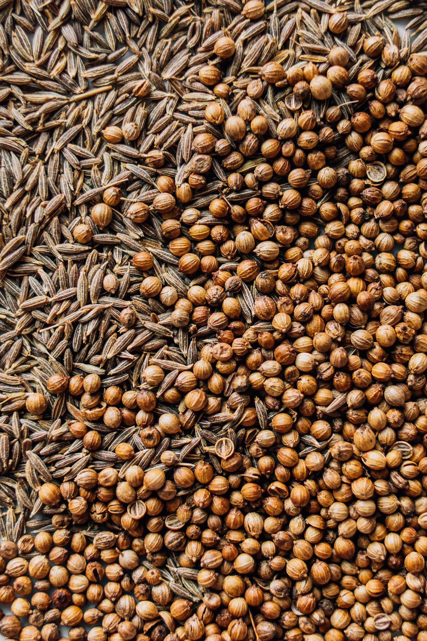Homemade za'atar spices.