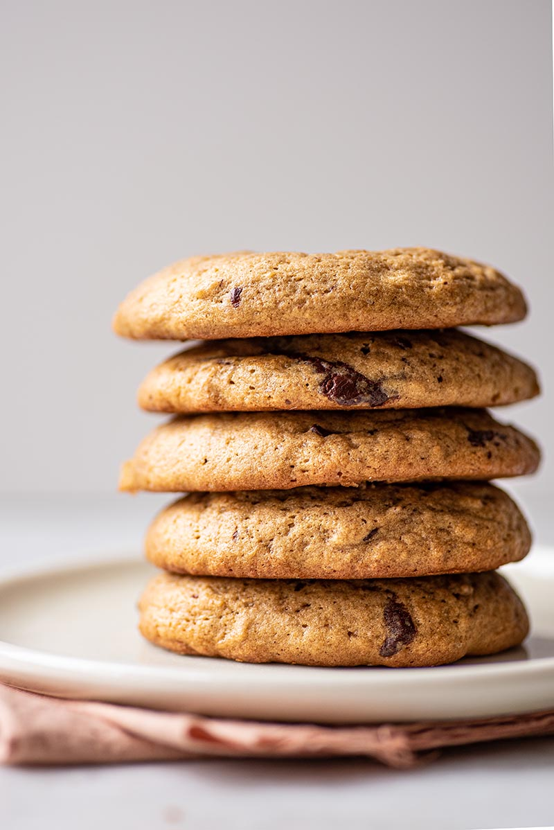 A stack of cookies.