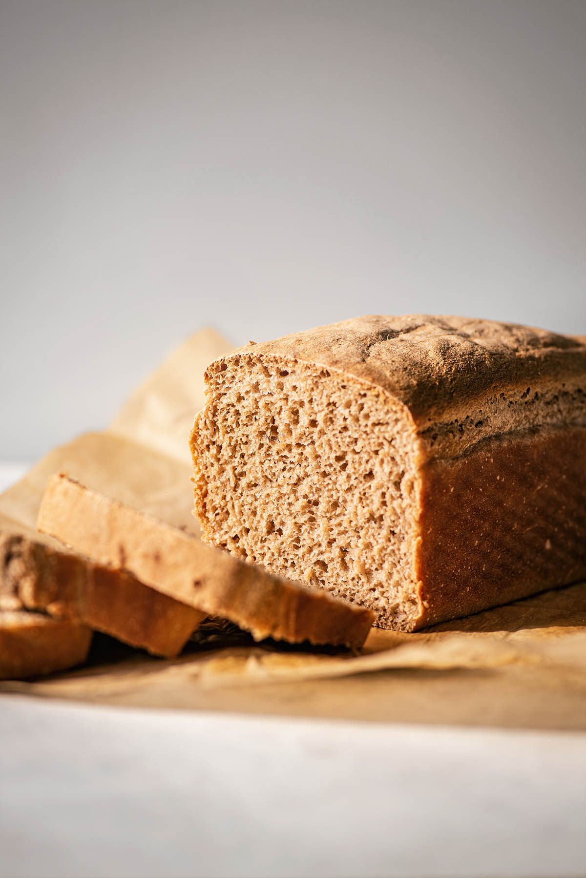 A loaf of sliced bread.