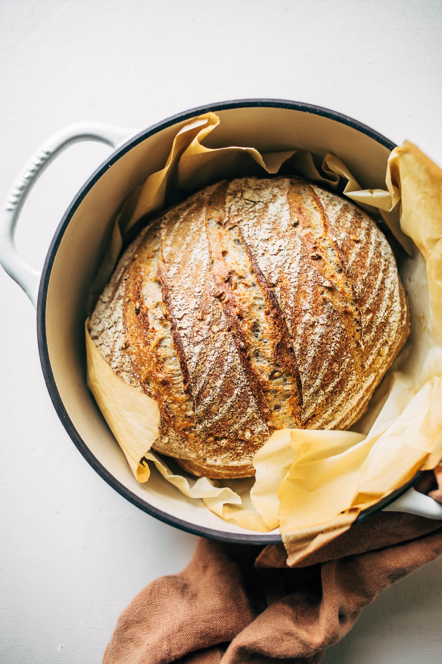 Sprouted Grain Sourdough Bread Baked