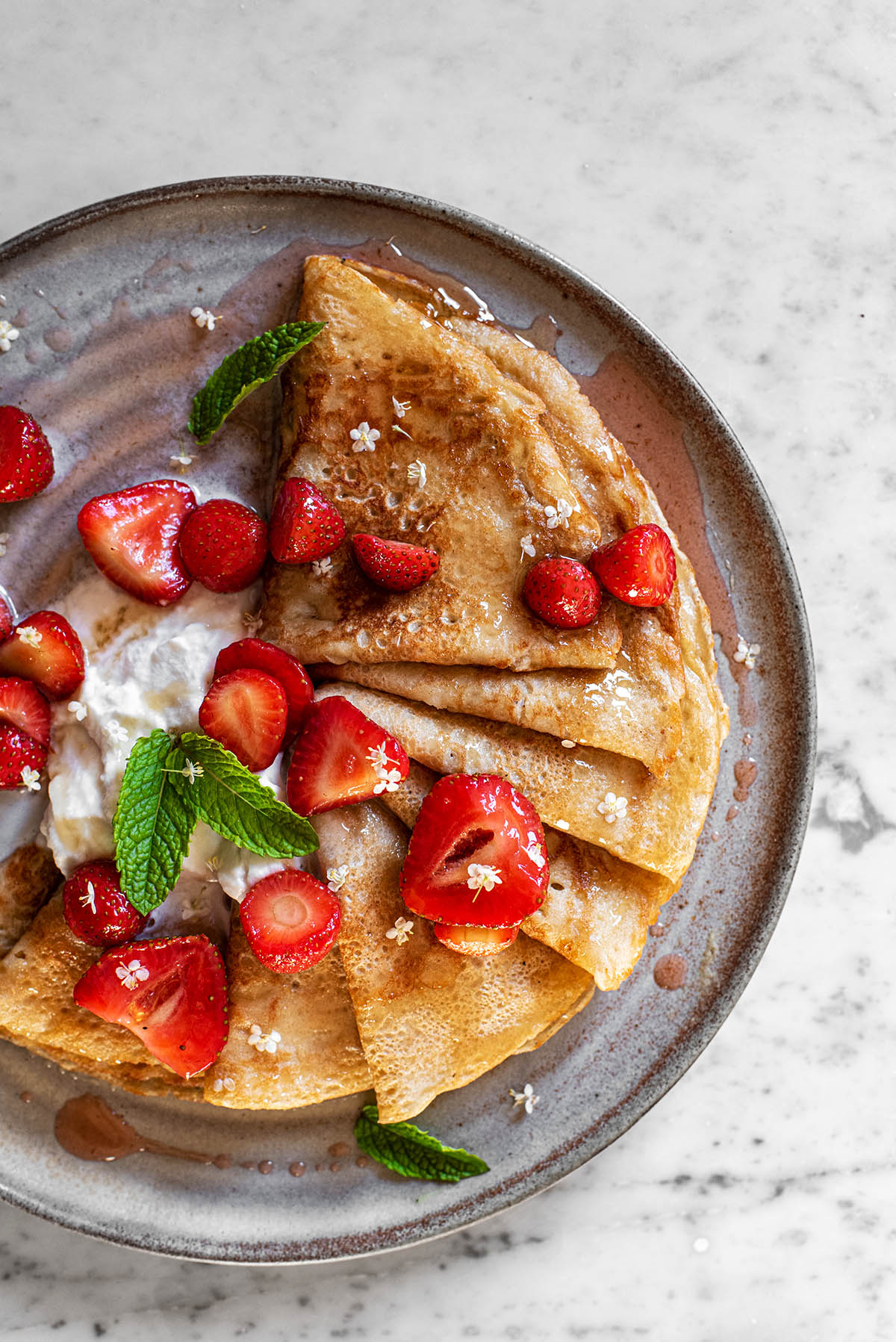 Sourdough Crepes Baked