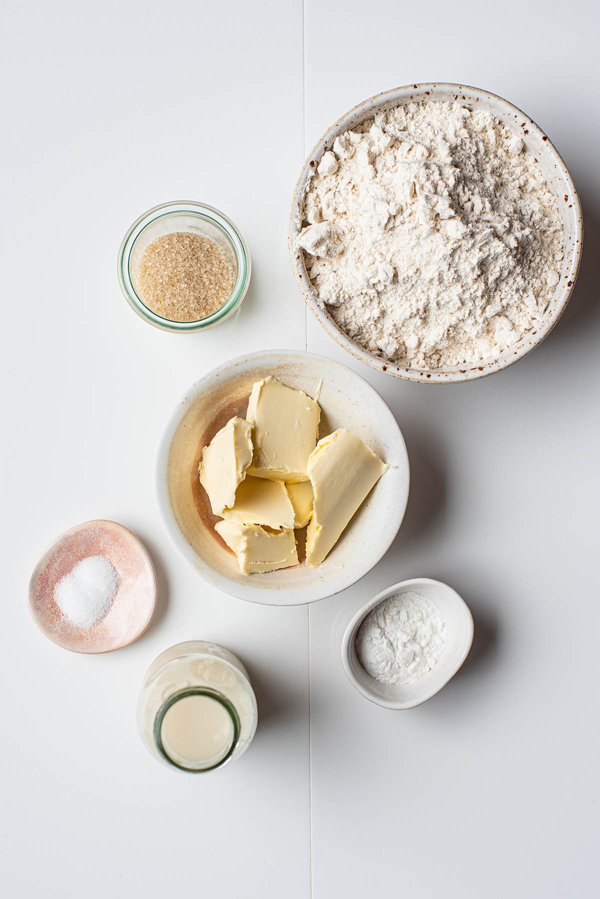 Vegan scone ingredients.