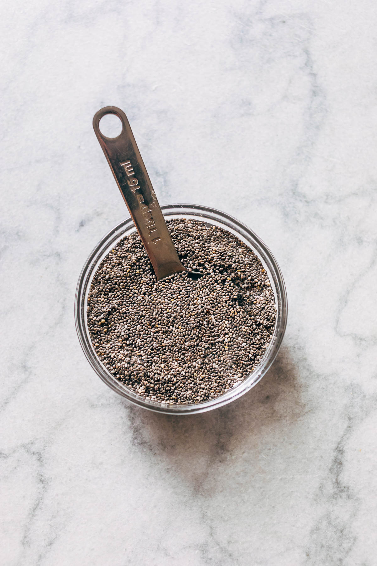 Soaked chia seeds.