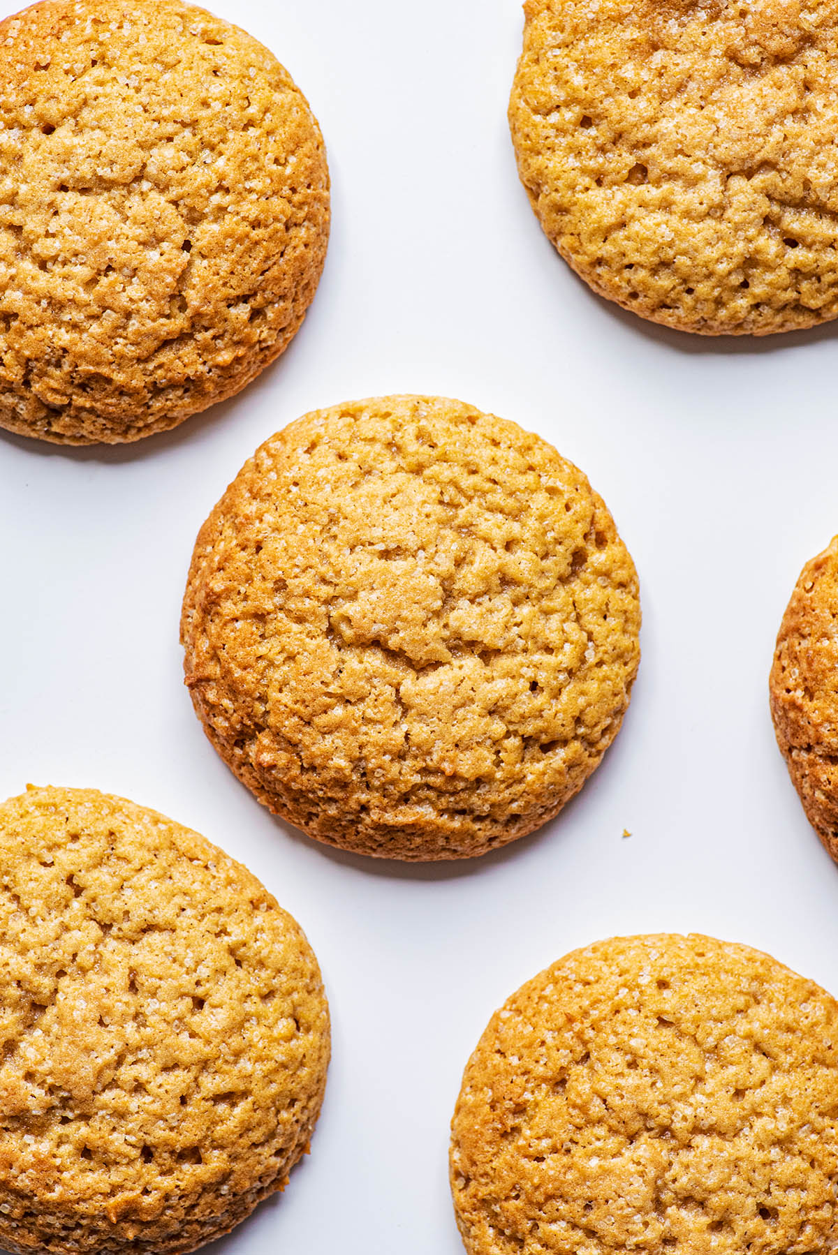 Close up of baked cookies.