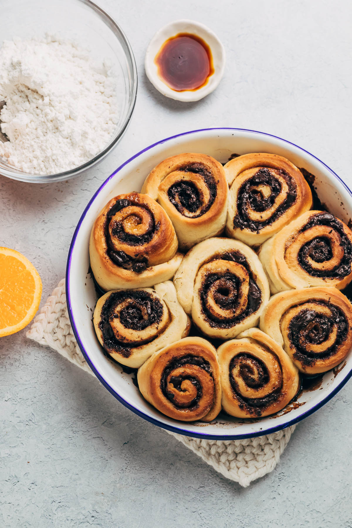 Rolls after baking.