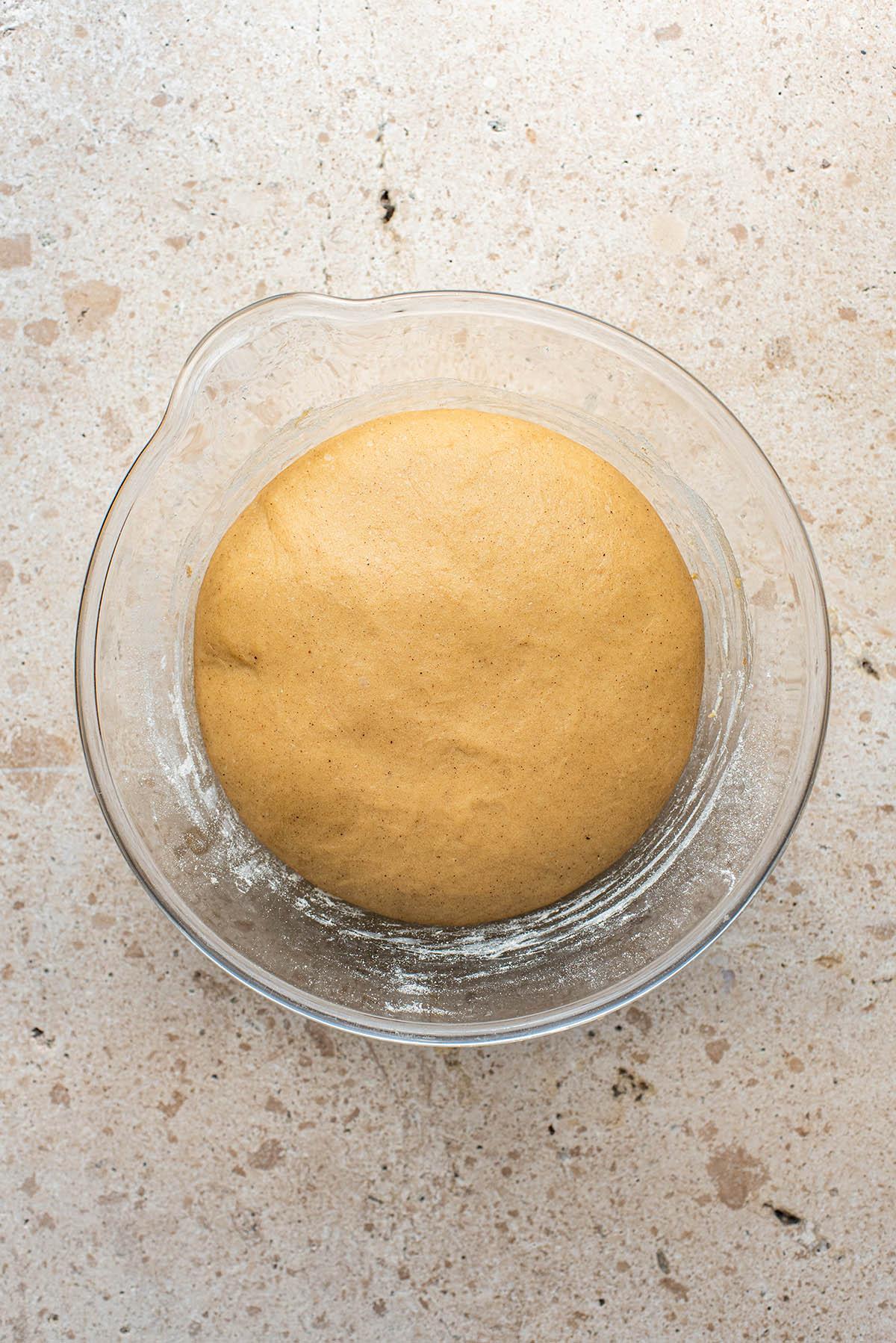 Dough after rising.