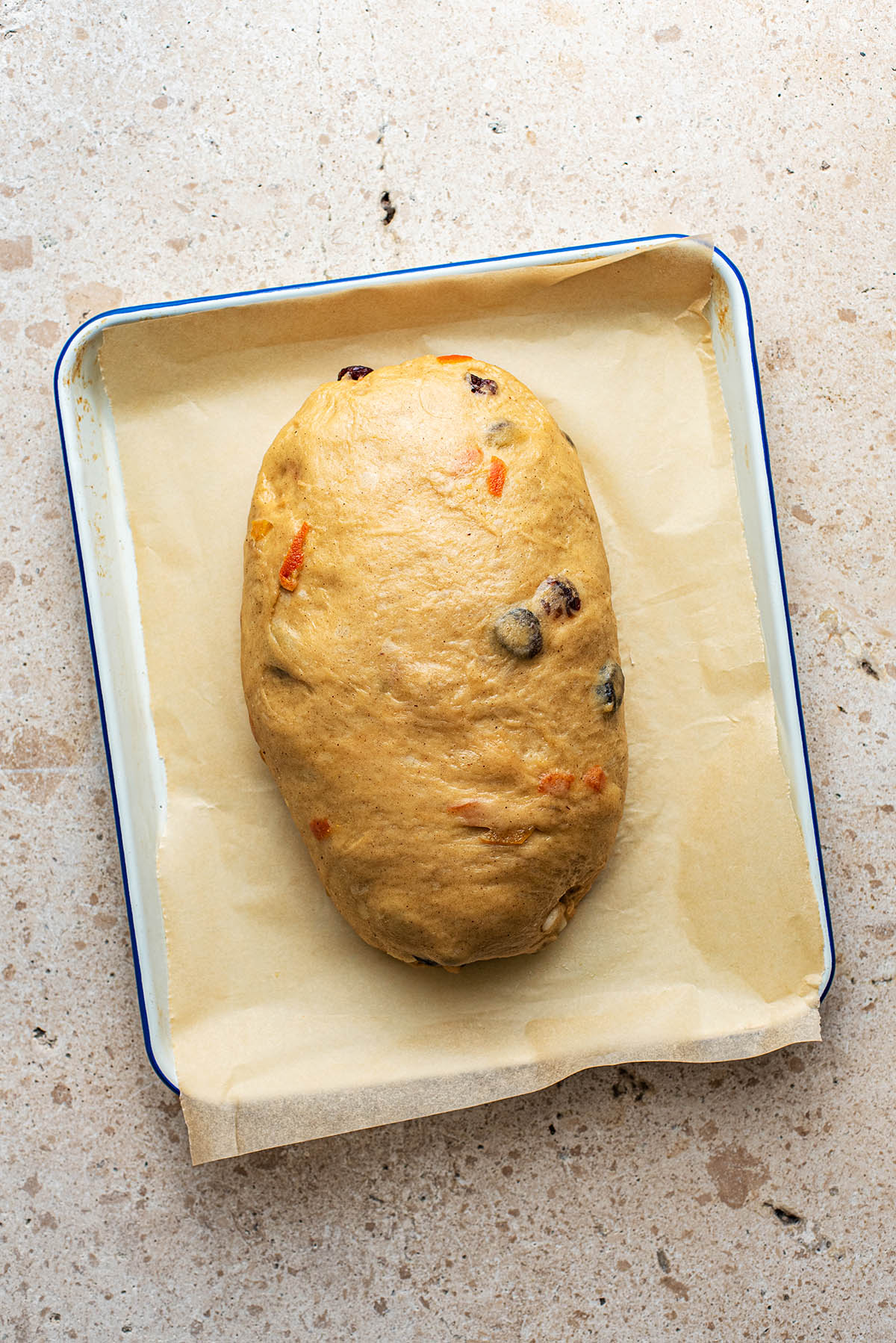 Stollen after second proof.