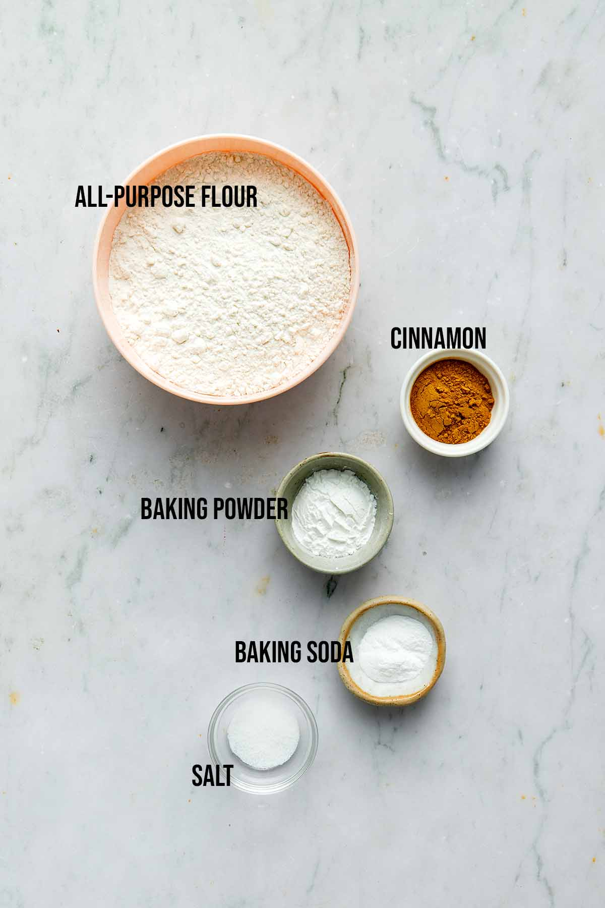 Sourdough muffin dry ingredients.