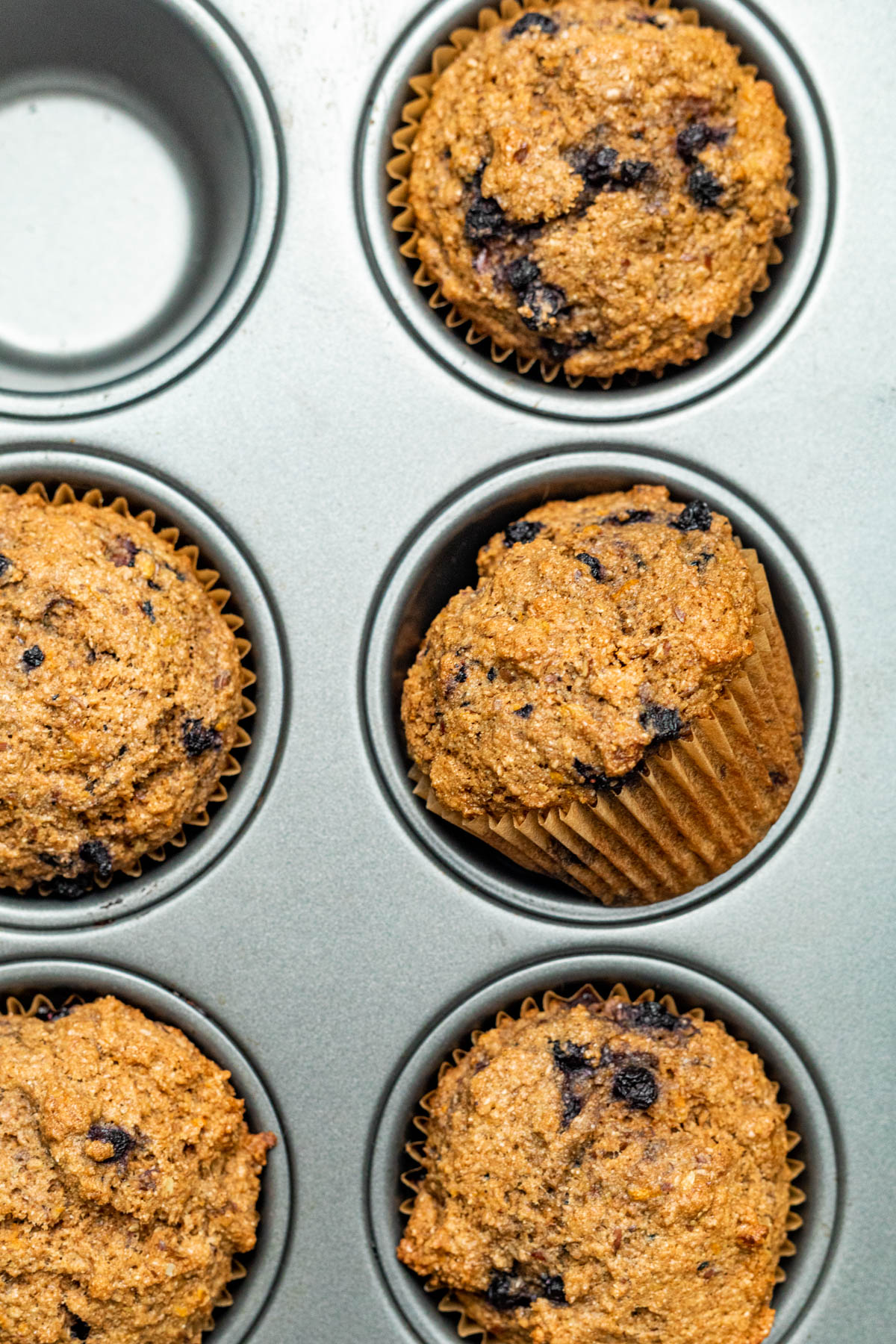 Muffins after baking.