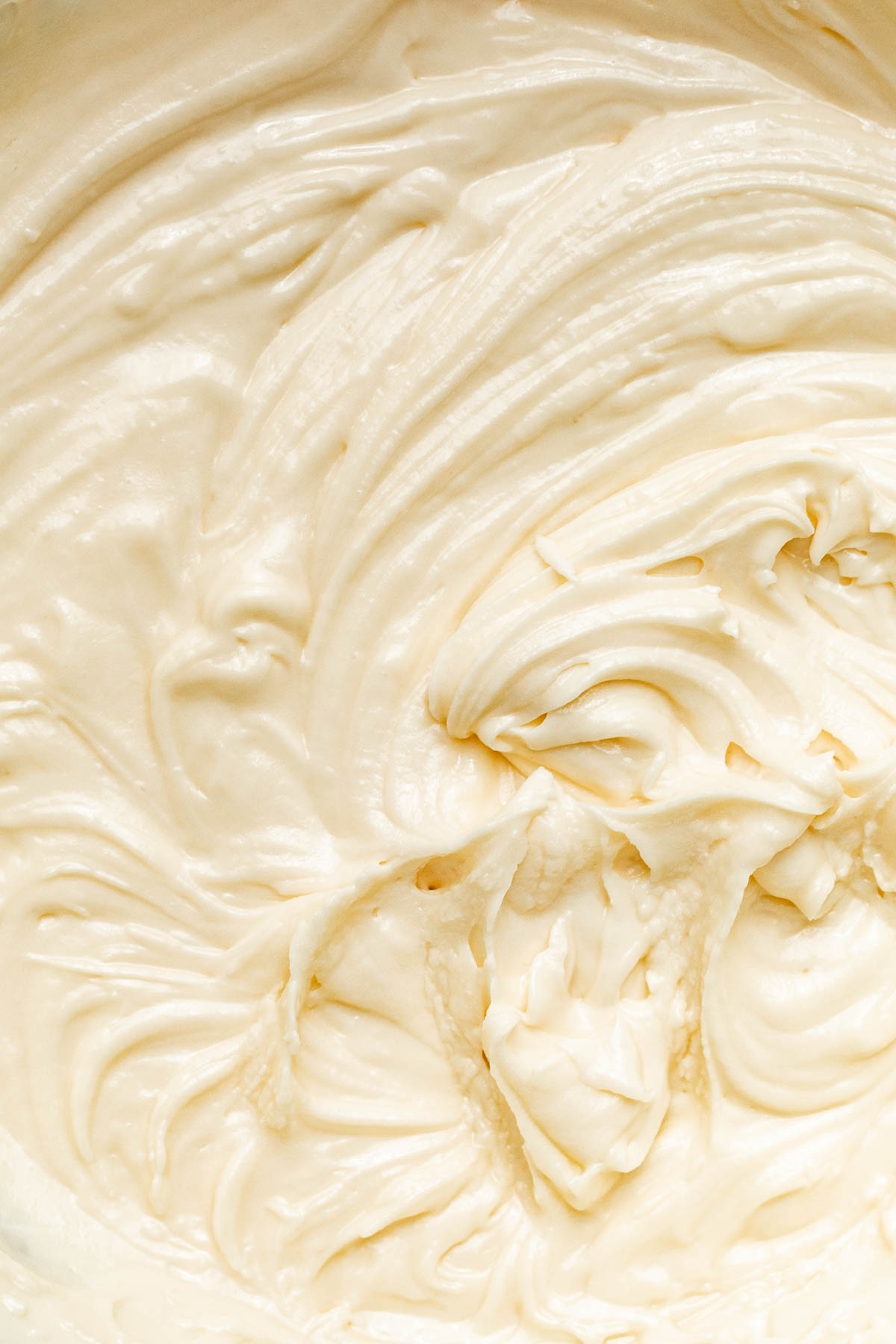 Close up of vegan buttercream.