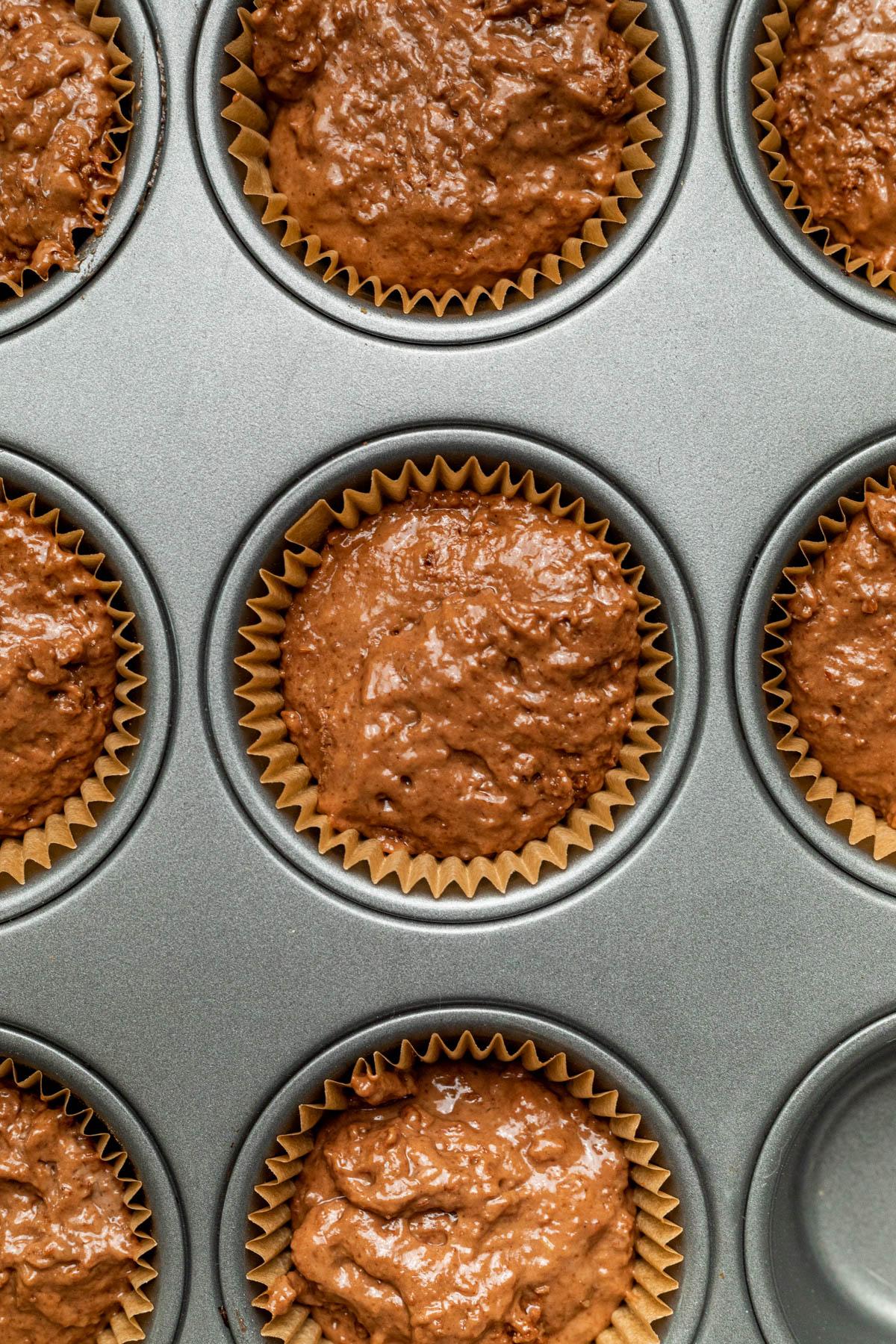 Cupcakes before baking.