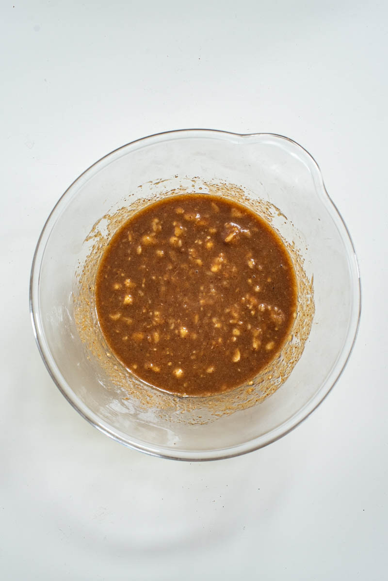 Wet ingredients after mixing.